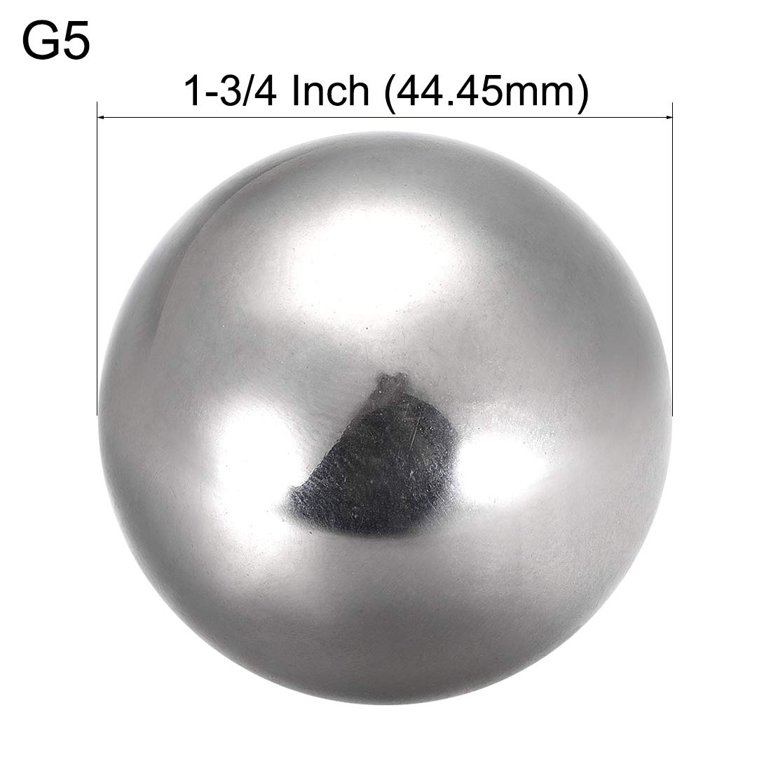 sourcing map Precision 304 Stainless Steel Bearing Balls 1-3//4 Inch 44.45mm G5