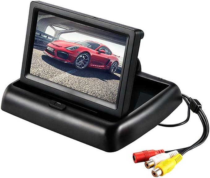 HJJH 4.3 En Pantalla Desplegable Automática Entrada De 12-24 V Carro General 2 Canal De Video RCA Cámara De Respaldo/Referencia/DVD/Reproductor Multimedia: Amazon.es: Deportes y aire libre