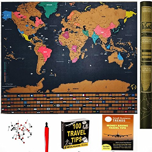 Scratch Off World Map With Us States.Scratch Off World Map Travel Tracker Poster W Us States Country