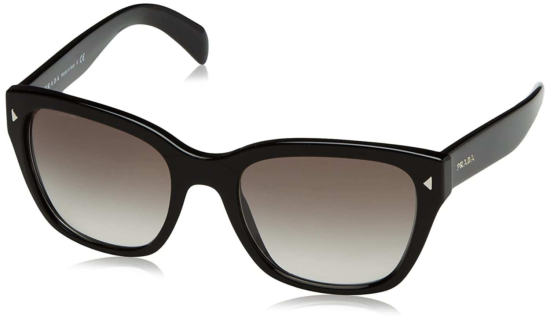 Prada Damen Sonnenbrille 0PR09SS 1AB9K1, Schwarz (Black/Grey), 54