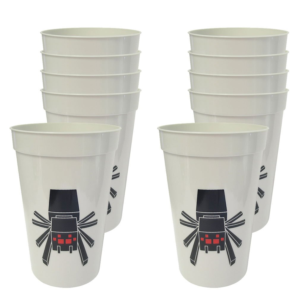 Blue Orchards Mining Fun Pixel Spider 12-Ounce Cups (10)