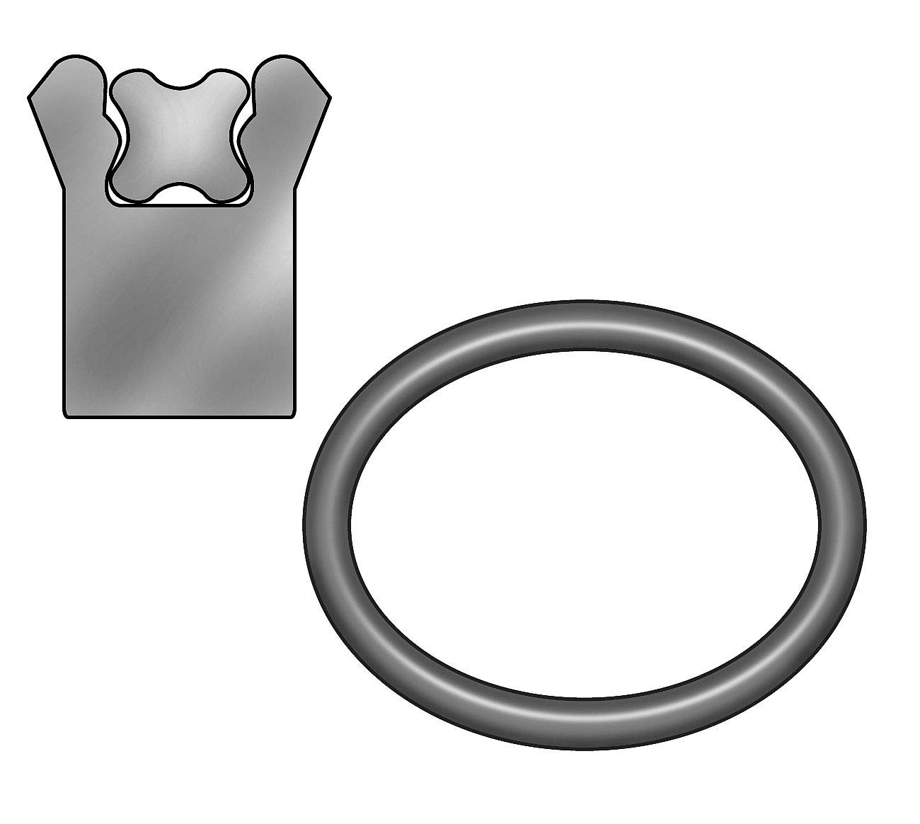 5/16'' x 3/16'' Type B Polyseal Rod Seal, Black - 2HZH4 (Pack of 2)