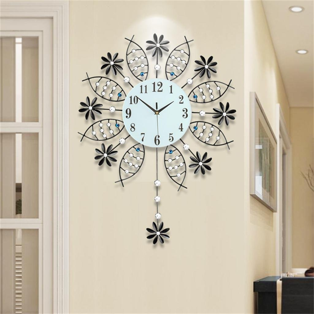 Amazon.com: TOYM-Creative Modern Minimalist Living Room Wall Clock Watch Clock Swing Mute Art Wall Clock Quartz European Big Bedroom Wall Clock: Home & ...