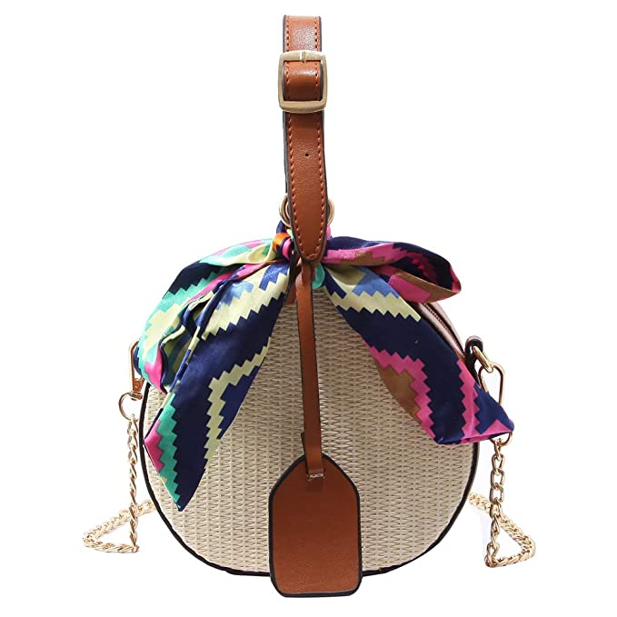 Amazon.com: Women Straw Bag Crossbody Bags for Girls Scarves ...