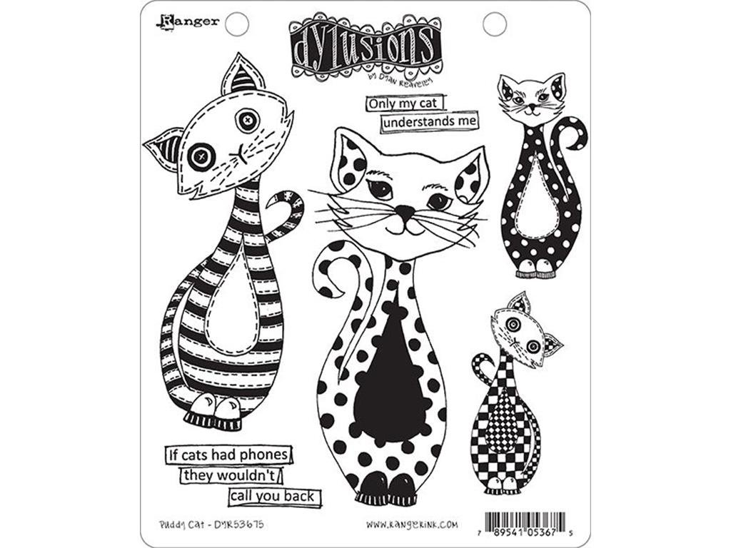 Ranger DR DReaveley Dylusions Stamps Puddy Cat
