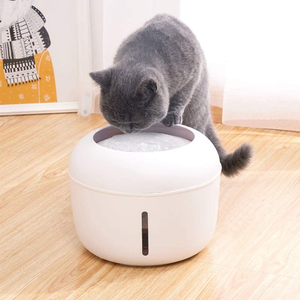 Ultra-Quiet PICKME Cat Water Fountain Stainless Steel USB Powered 2.5L Smart Pet Water Fountain Battery Operated Auto-Shut Off Pump