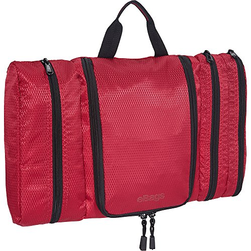 eBags Pack-it-Flat Hanging Toiletry Kit for Travel - (Raspberry)