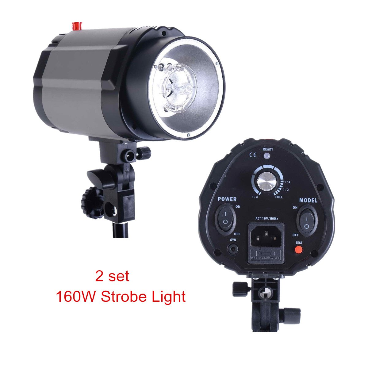 Safstar Professional Photo Studio Strobe Monolight Lighting Kit for Video Shooting, Location and Portrait Photography - 2 x Overhead Boom Light Kit, 2 x Softboxes, 1 x Carrying Bag by S AFSTAR (Image #2)