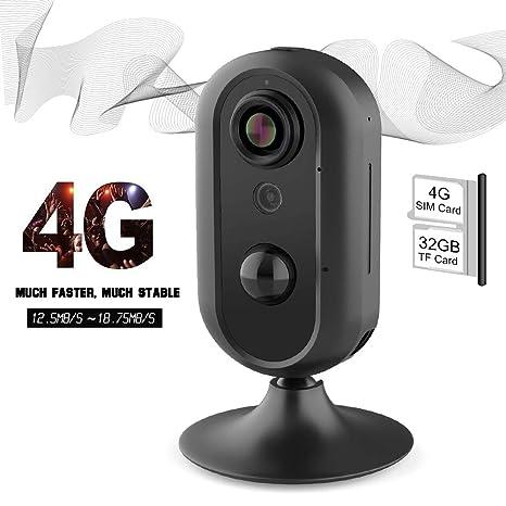Amazon.com: Lncoon - Cámara de seguridad para el hogar 4G ...