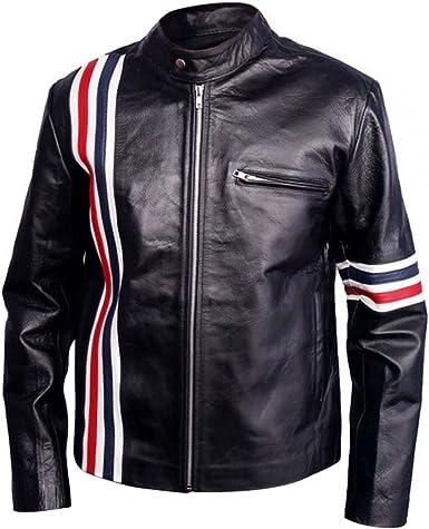 Mens Cafe Racer Biker Genuine Leather Vest Black Color XXS to 3XL