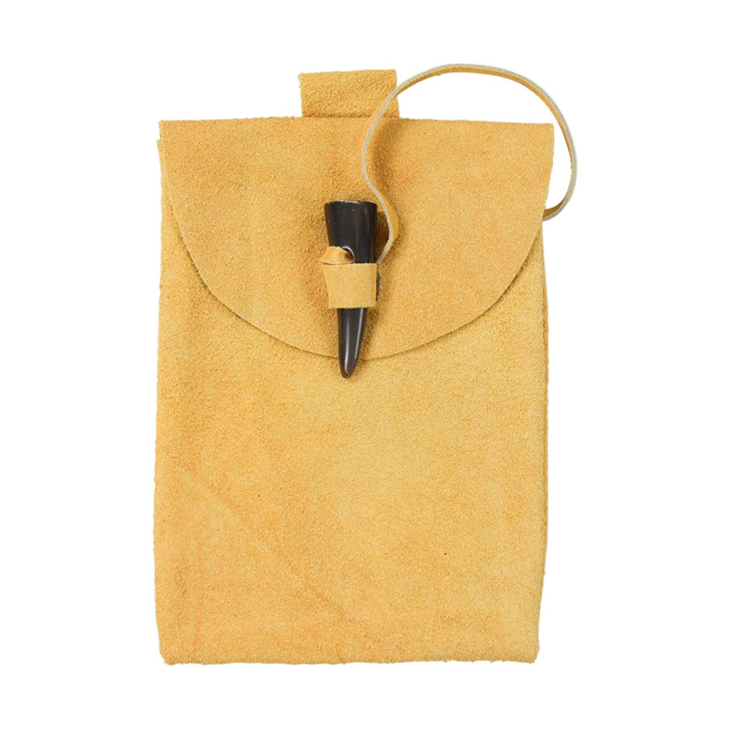 Small Medieval Gold Horn Toggle Belt Pouch