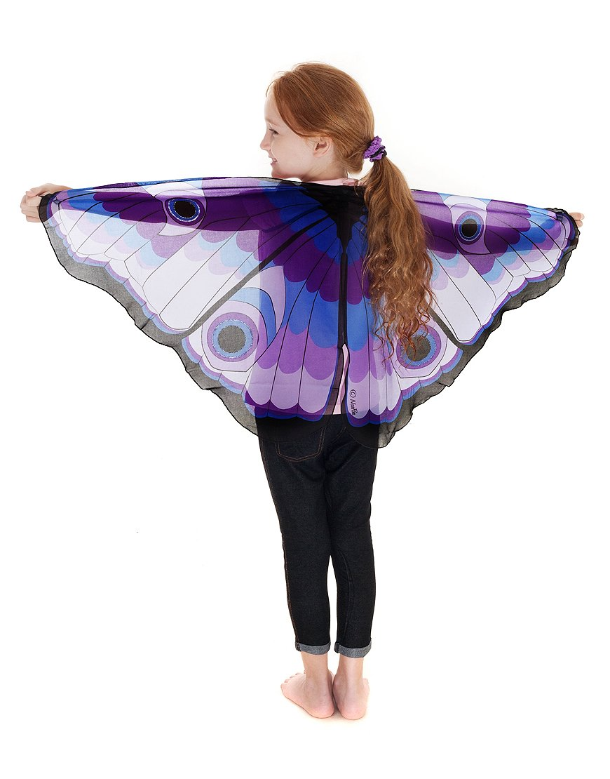 Butterfly Wings w/Glitter Eyes, Purple by Douglas Toys