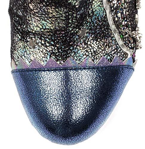 Blue black Irregular Donna Stivali Choice RBwTqT70H