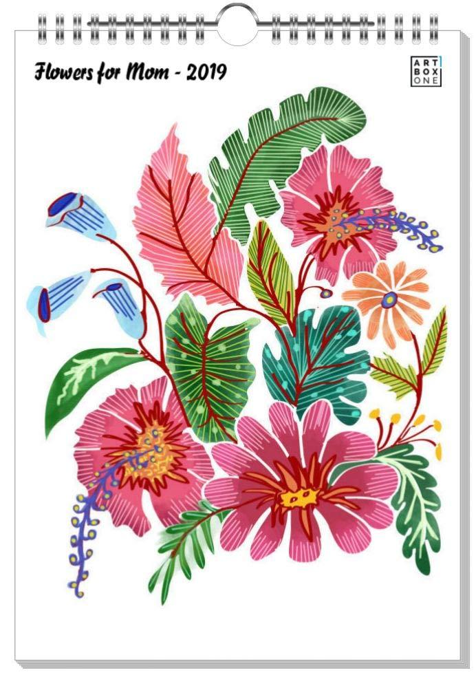 ArtboxONE Kalender 2019 Flowers for Mom Wandkalender A2 Für Mama B07H928M26    | Ausreichende Versorgung