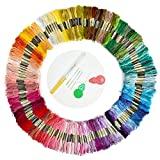 IROCH 150 Skeins of 8m Multi-color Soft Cotton Cross Stitch Embroidery ...