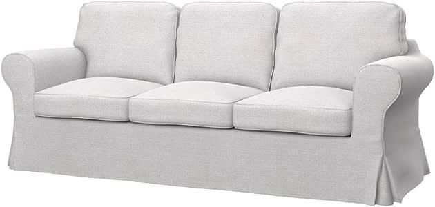 Soferia - IKEA EKTORP PIXBO Funda para sofá Cama de 3 plazas, Naturel White: Amazon.es: Hogar