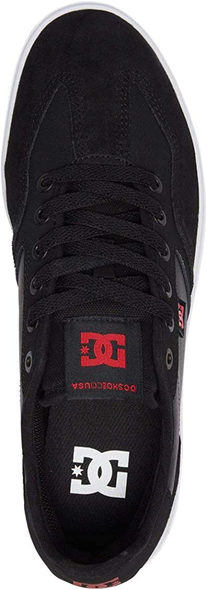 DC Men's Vestrey Skate Shoe Grey/Black/Red