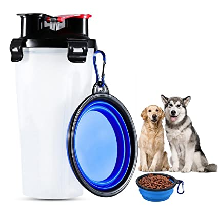 AOLVO 2 in 1 Pet Portable Food and Water Feeding Bottle Travel Pet Food Storage Container  sc 1 st  Amazon.com & Pet Supplies : AOLVO 2 in 1 Pet Portable Food and Water Feeding ...