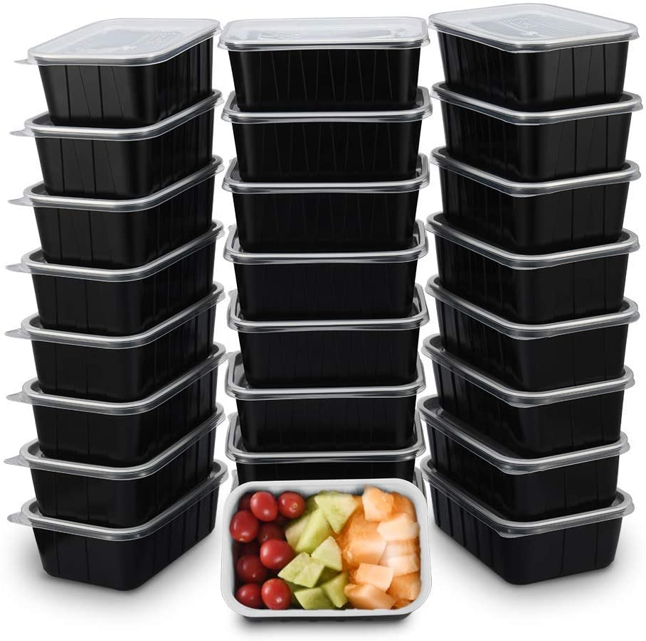 OTOR 30 OZ Meal Prep Containers Stackable Bento Boxes 25 Sets with Clear Airtight Lids Lunch Boxes Travel Containers Reusable BPA Free Dishwasher, Microwave, Freezer Safe