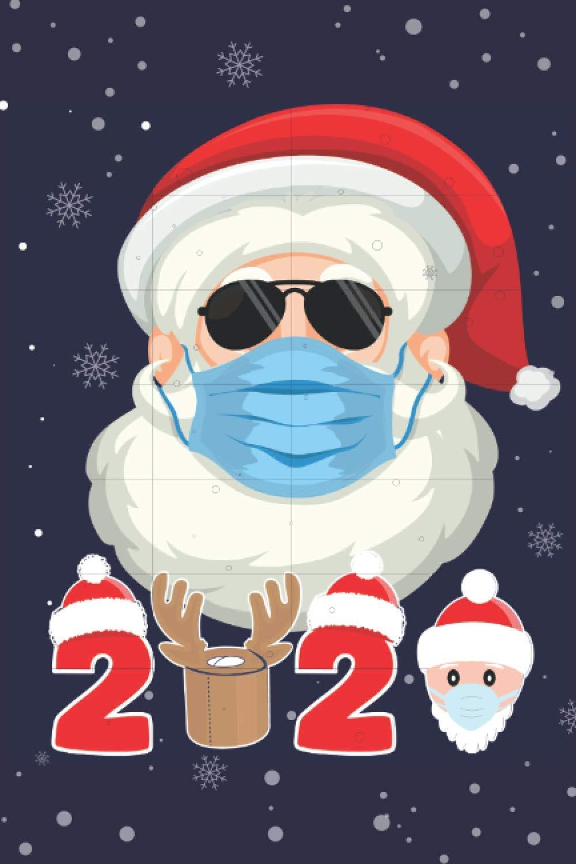 Santa 2020: Santa wearing mask glasses quarantine Christmas ...