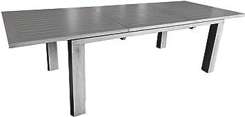Proloisirs Table en Aluminium avec allonge Elisa 240 cm ...