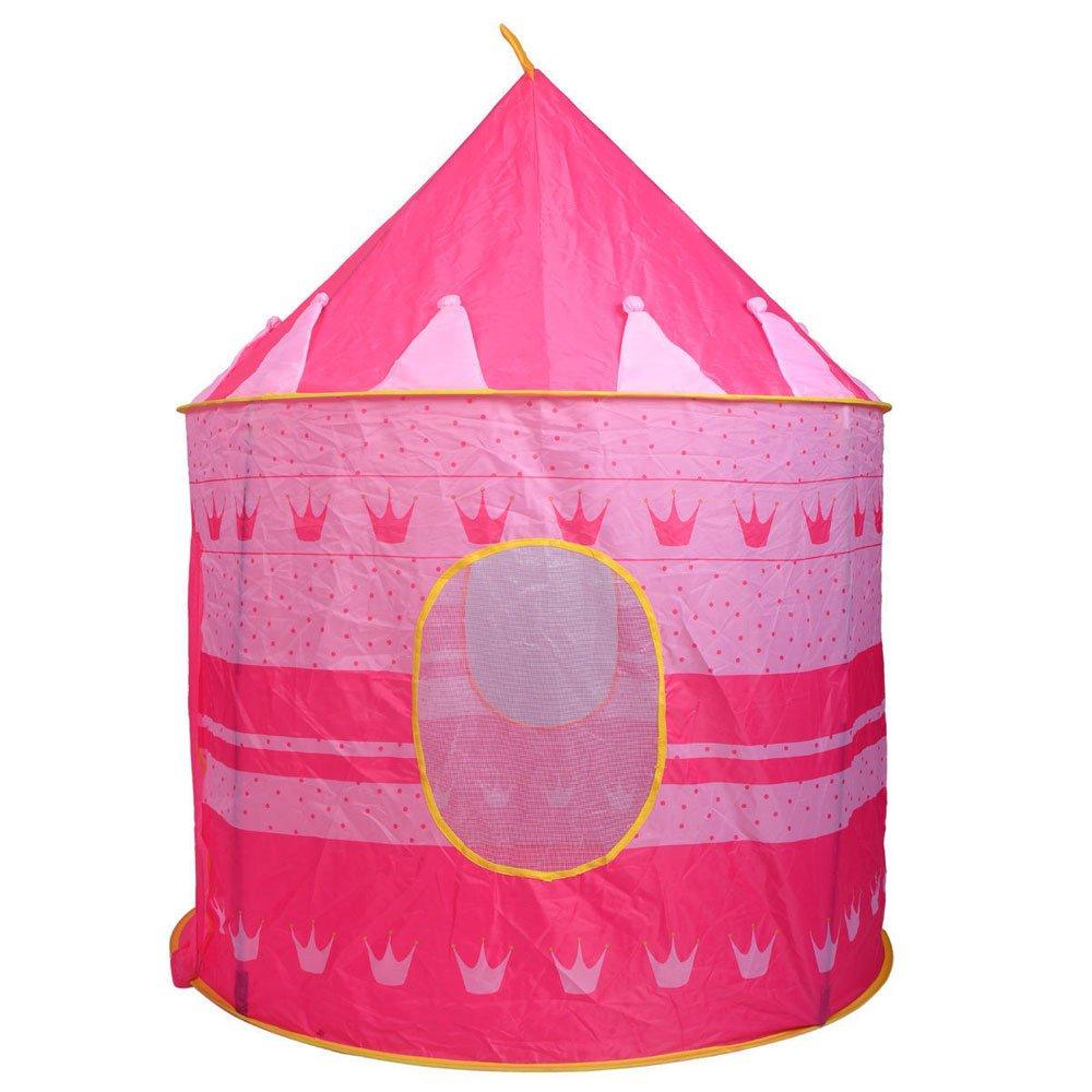 子供用テントトイ プリンスプレイハウス - 幼児用プレイハウス 青い城 子供 男の子 女の子 赤ちゃん 屋内&屋外用おもちゃ 折り畳み式プレイハウステント キャリーケース付き 誕生日プレゼントに最適 (米国在庫) ピンク 665427553654 B07TG89SS3 ピンク