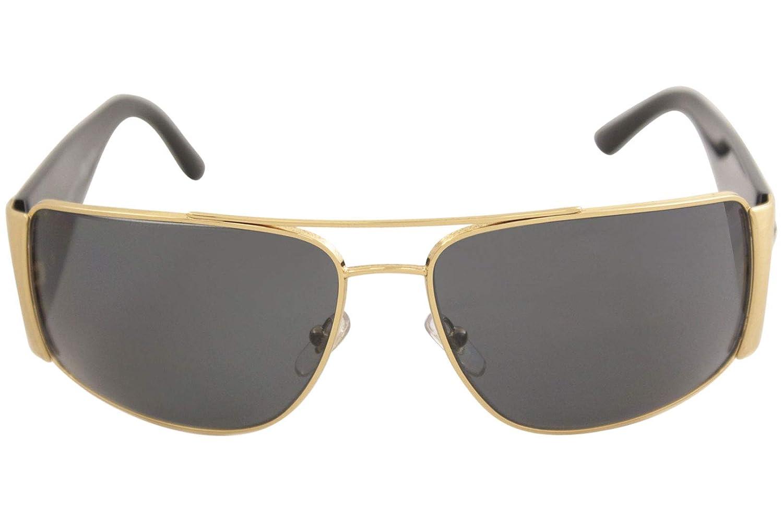 a11c83f31e56c Amazon.com  Versace Mens Sunglasses (VE2163) Gold Grey Metal - Polarized -  63mm  Clothing