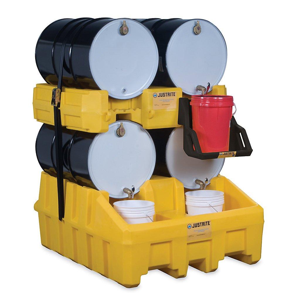Black Black Justrite Drum Cradle System Base Module 48X59x26