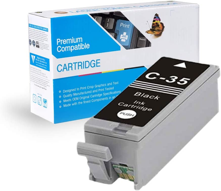 MS Imaging Supply Compatible Inkjet Cartridge Replacement for Canon PGI-35 B Black, 4 Pack