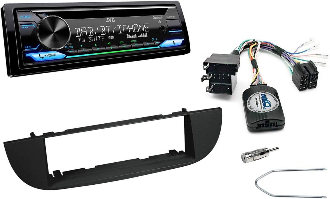 Autoradio Einbauset Geeignet Für Fiat 500 Inkl Jvc Elektronik