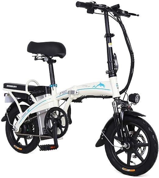 FJW Unisexo Bicicleta electrica, 14 Pulgadas E-Bike 250W, 48V 20Ah ...