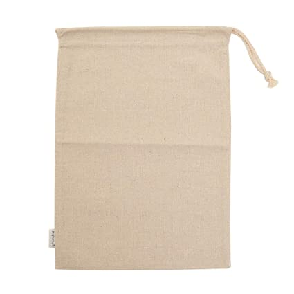 bc119da198 Amazon.com: Augbunny Cotton/Linen Blend 11- by 15-inch Muslin Produce Bags  with Drawstring, 6-Pack: Kitchen & Dining