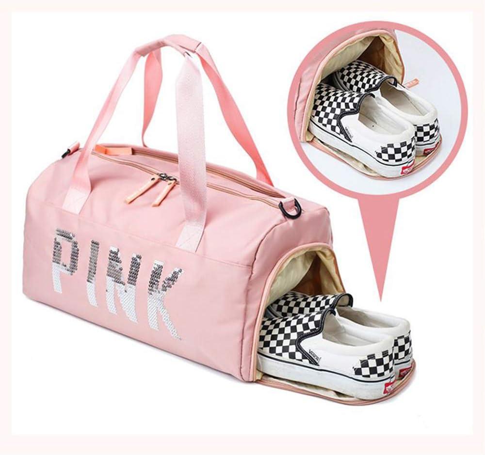 IEUUMLER Sac de Sport de Voyage de Shopping avec Compartiment /à Chaussures pour Homme et Femme IE127