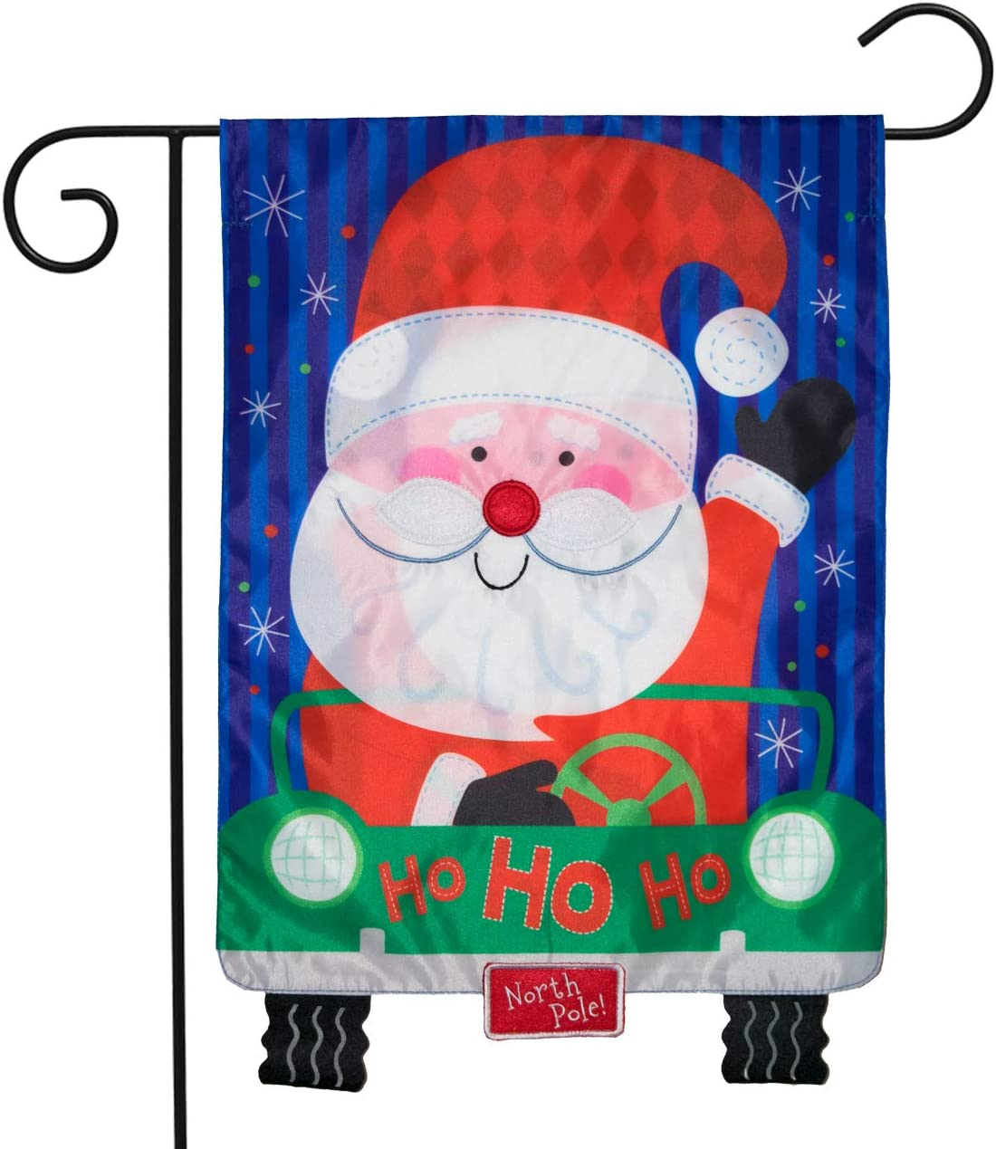 """Briarwood Lane Santa's Delivery Christmas Applique Garden Flag Double Sided 12.5"""" x 18"""""""