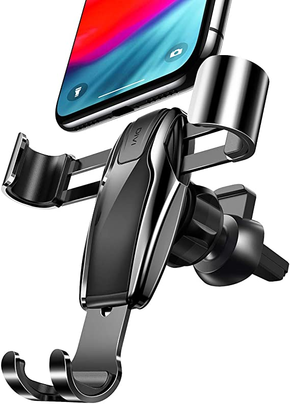 ZTech Car Phone Mount Compatible Samsung S10 S9 LG Google Huawei Adjustable Gravity Linkage Air Vent Phone Holder for Car Handsfree Cell Phone Car Mount Compatible iPhone XR Xs Max Xs X 8 7 Plus