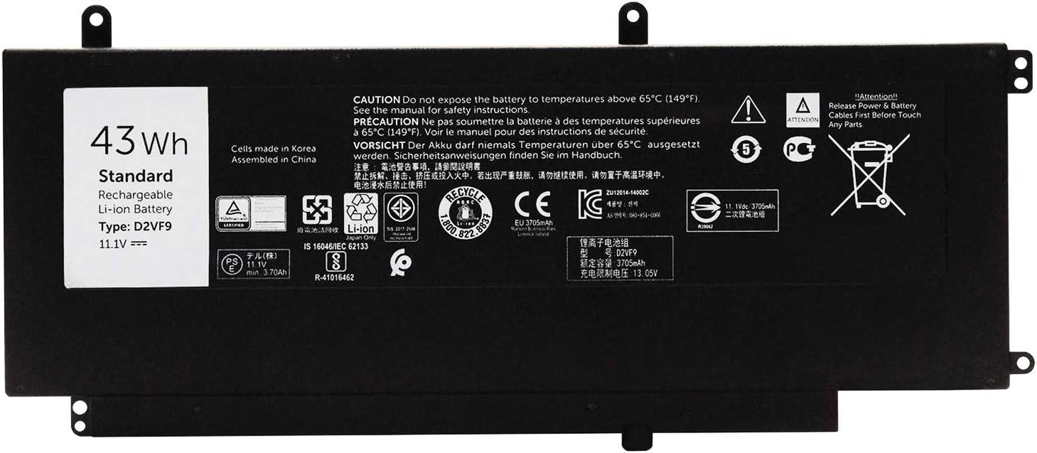 EBKK D2VF9 Battery 0PXR51 for Dell Inspiron 7547 7548 Vostro 14 5459 PXR51 0YGR2V【11.1V 43Wh】