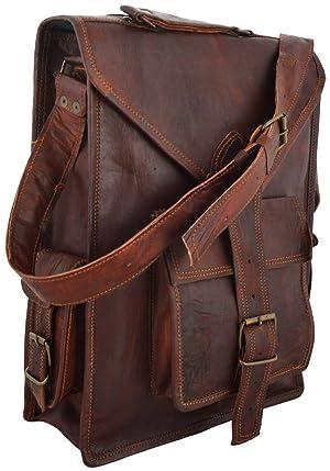 Leather Messenger Vintage Leather Briefcase and Messenger Bag 11