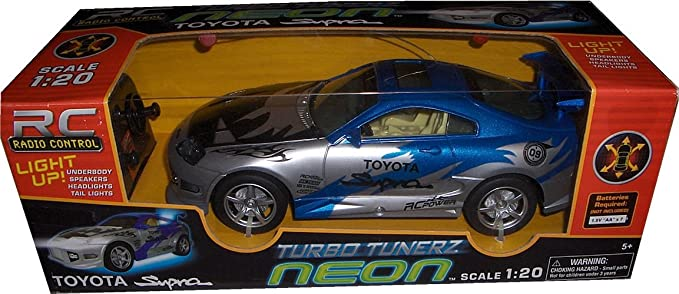 RC Turbo Tunerz Neon Toyota Supra 1:20 Radio Control Car, including Radio Remote: Amazon.es: Juguetes y juegos