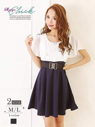 464b406f768ec (リューユ)Ryuyu キャバドレス キャバ ドレス キャバクラ ミニドレス パーティードレス RyuyuChick バイカラー