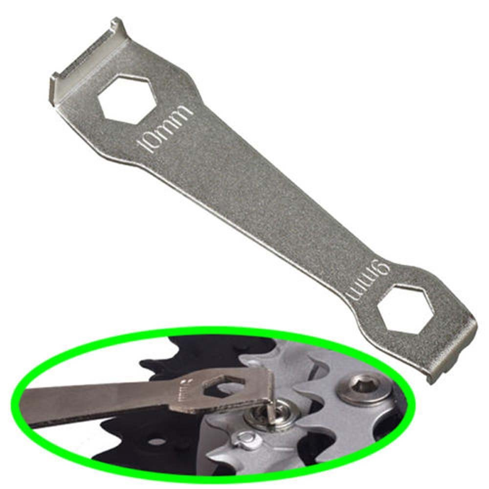 Bicycle Bike Chainring Wrench Steel Tool Fixed Nut Crankset Bolt Peg Spanner T