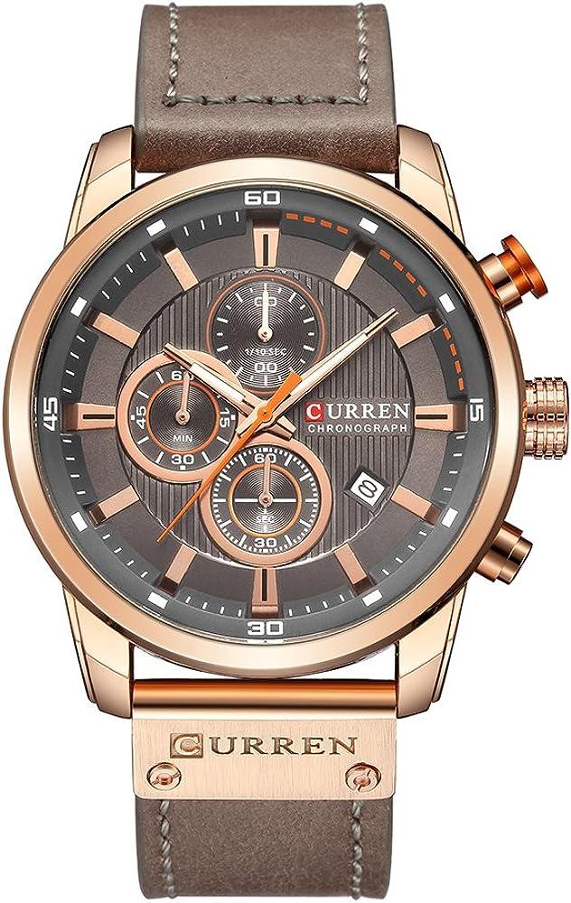 Curren - Reloj de pulsera analógico digital de cuarzo para hombre