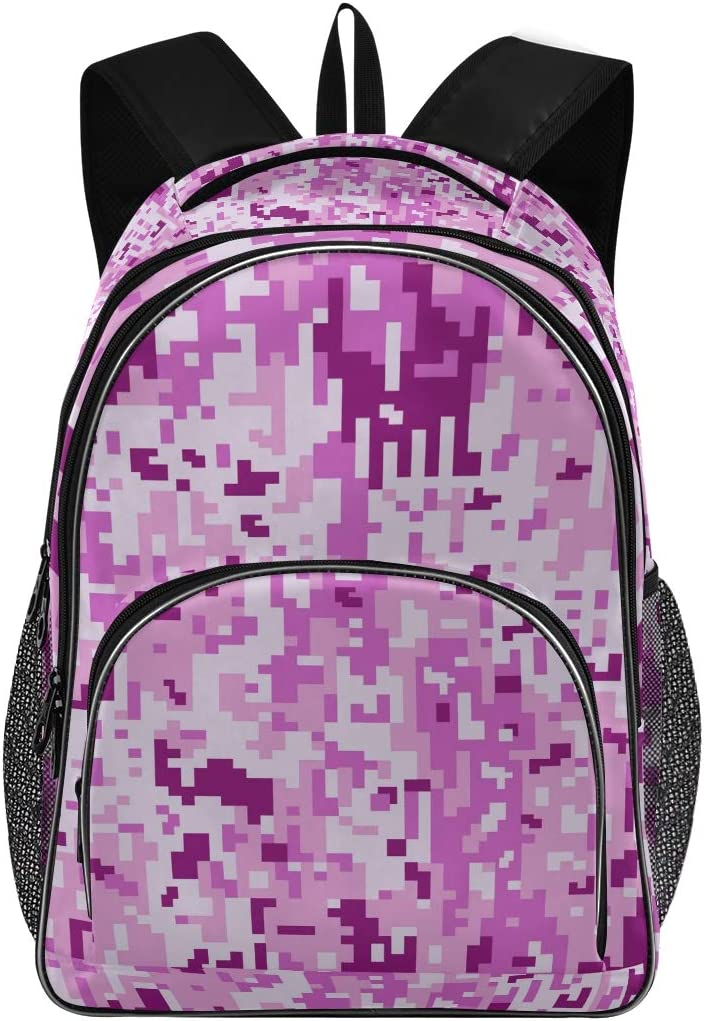 Fits Up to 15.6 Inch Laptops DEZIRO Purple Camouflage Lightweight Backpack Travel Backpack Outdoor Bag