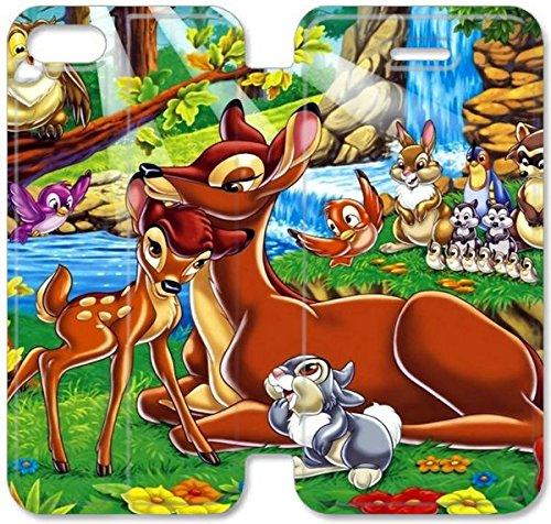 Coque iPhone 5C Coque Cuir, Klreng Walatina® PU Cuir de portefeuille Coque de protection pour Coque iPhone 5C Design By Livre de la Jungle image Pc L2Y5Pb