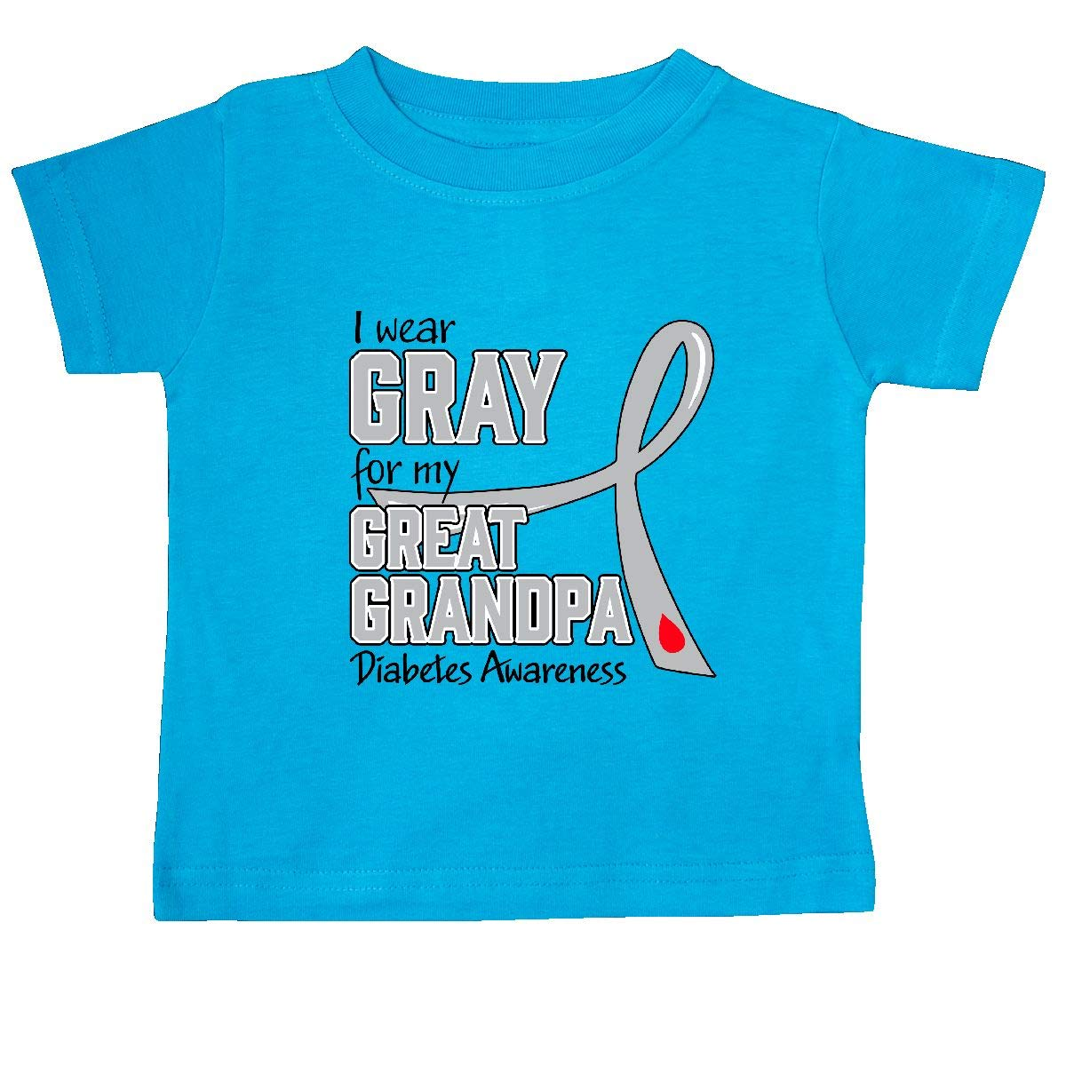 inktastic I Wear Gray for My Great Grandpa Diabetes Awareness Baby T-Shirt