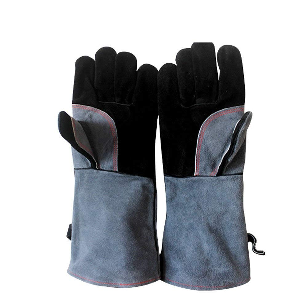 IRVING Barbecue gloves high temperature flame retardant insulation kitchen microwave oven baking outdoor bbq by IRVING (Image #3)