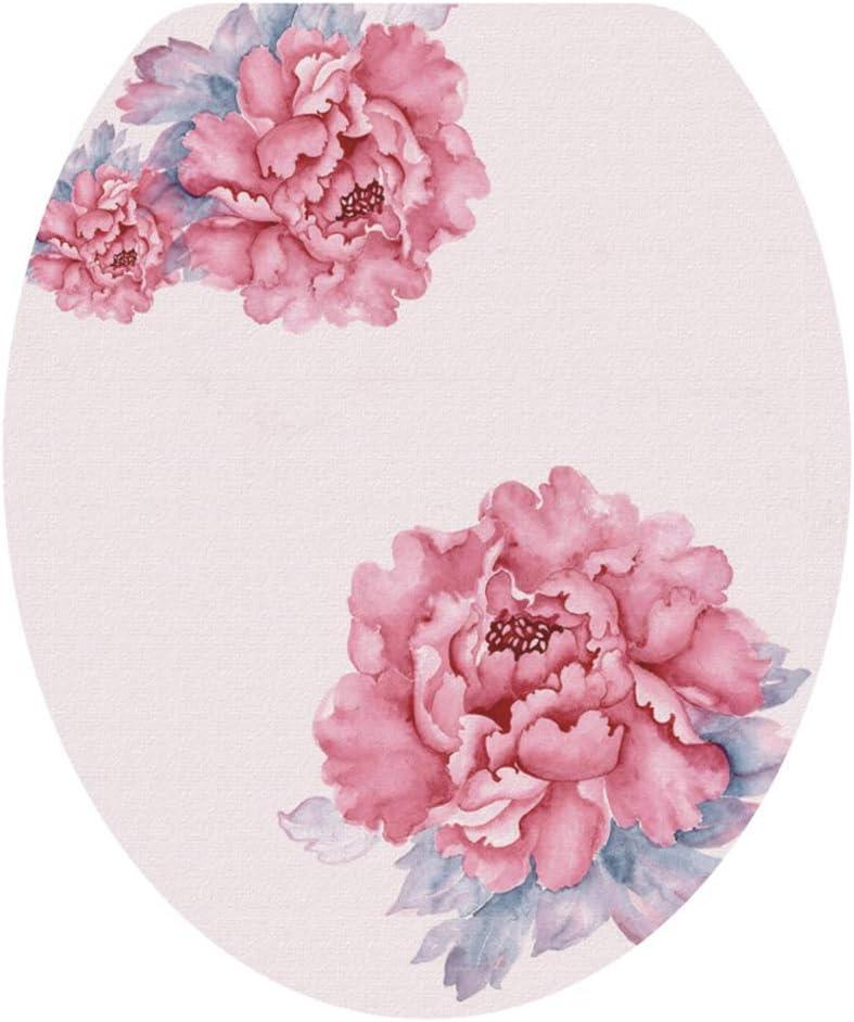 Delidraw Neu Muster Toilette Deckel Aufkleber Meer Weltweit//Blumen Wasserfest Toilettensitz Deckel Aufkleber Badezimmer Dekor 3202