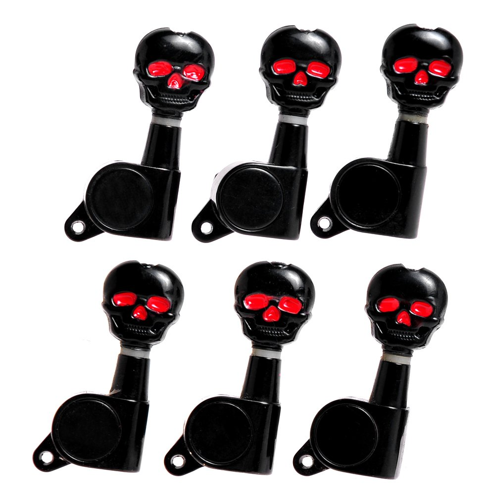 3L3R Skull Guitar Sealed -Gear Tuning Pegs Machine Head Black (A3043) Ltd BCG329956