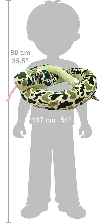 Wild Republic - Snakesss, serpiente de peluche, diseño camouflage, 137 cm, color verde (11105): Amazon.es: Juguetes y juegos