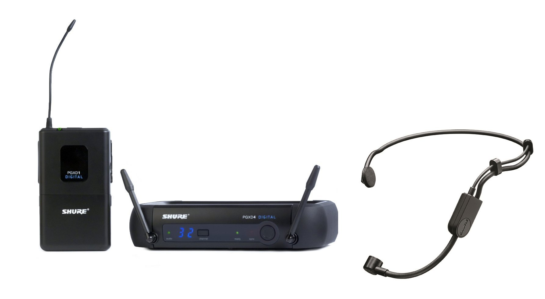 Shure PGXD14/PGA31-X8 Digital Headworn Wireless System with PGA31 Headset Microphone by Shure