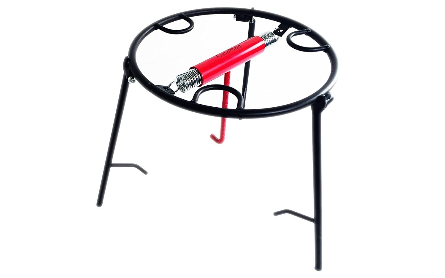 CampMaid Dutch Oven Lid and Pot Holder, Black/Red